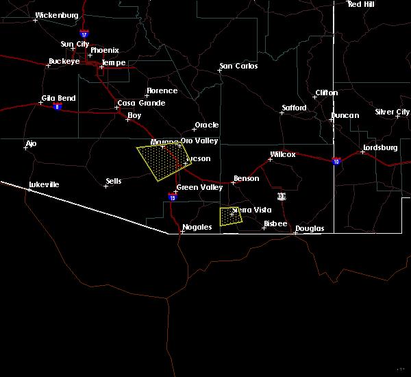 Radar Image for Severe Thunderstorms near Sierra Vista Southeast, AZ at 6/30/2015 5:34 PM MST