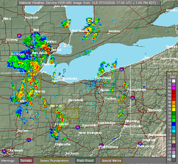 Radar Image for Severe Thunderstorms near Arlington, OH at 7/10/2020 1:11 PM EDT