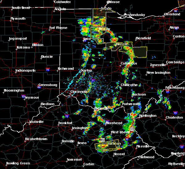 Radar Image for Severe Thunderstorms near Patterson, OH at 7/10/2020 1:26 PM EDT