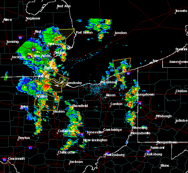 Radar Image for Severe Thunderstorms near Green Springs, OH at 7/10/2020 2:05 PM EDT