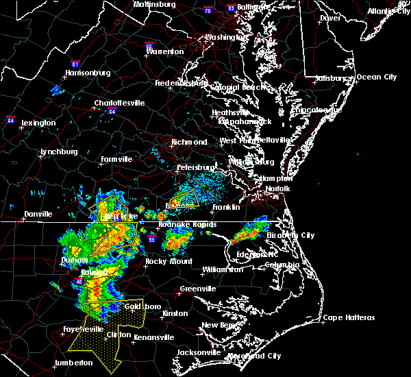 Radar Image for Severe Thunderstorms near Sussex, VA at 6/30/2015 8:34 PM EDT