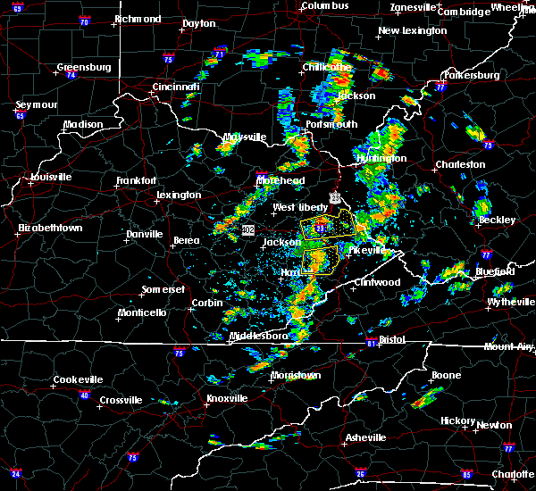 Radar Image for Severe Thunderstorms near Auxier, KY at 7/10/2020 2:47 PM EDT