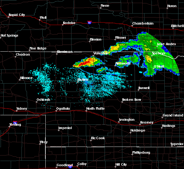 Radar Image for Severe Thunderstorms near Brownlee, NE at 7/10/2020 1:51 PM CDT