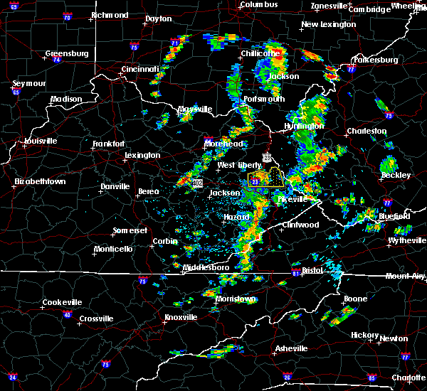 Radar Image for Severe Thunderstorms near Auxier, KY at 7/10/2020 2:59 PM EDT