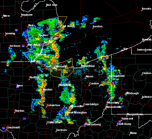 Radar Image for Severe Thunderstorms near Oceola, OH at 7/10/2020 3:02 PM EDT