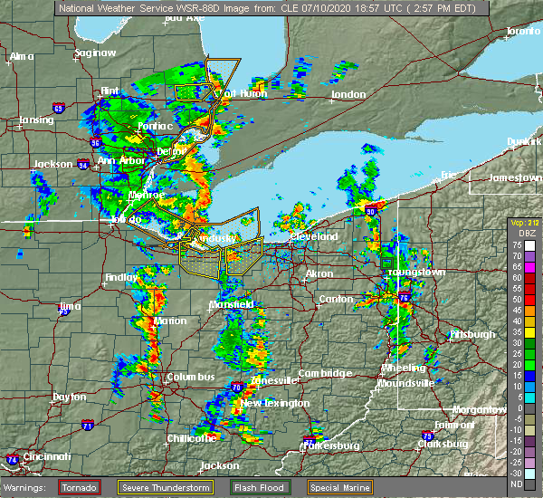 Radar Image for Severe Thunderstorms near Oberlin, OH at 7/10/2020 3:05 PM EDT