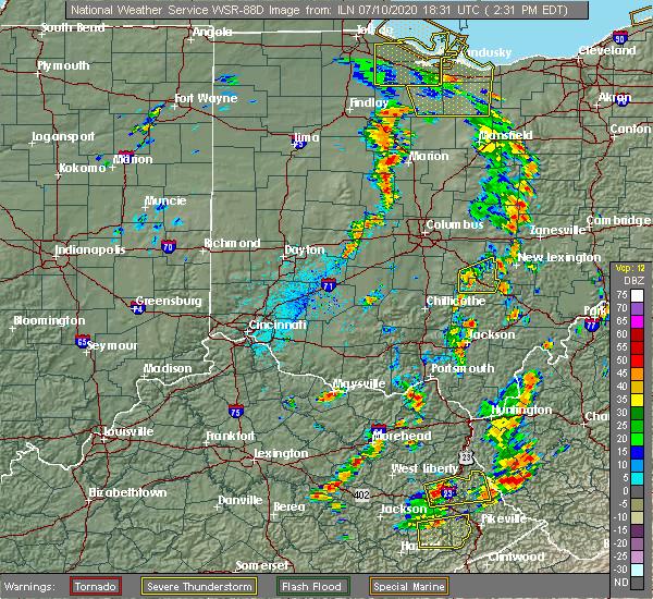 Radar Image for Severe Thunderstorms near Nelsonville, OH at 7/10/2020 3:10 PM EDT