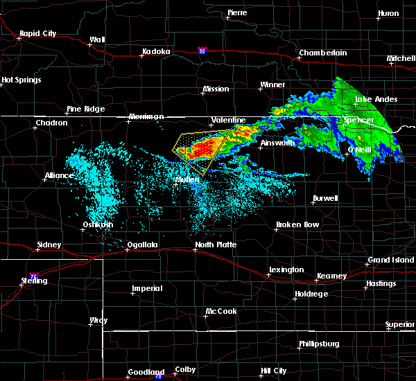 Radar Image for Severe Thunderstorms near Brownlee, NE at 7/10/2020 2:11 PM CDT
