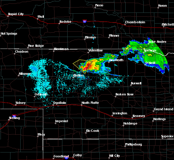 Radar Image for Severe Thunderstorms near Brownlee, NE at 7/10/2020 2:29 PM CDT