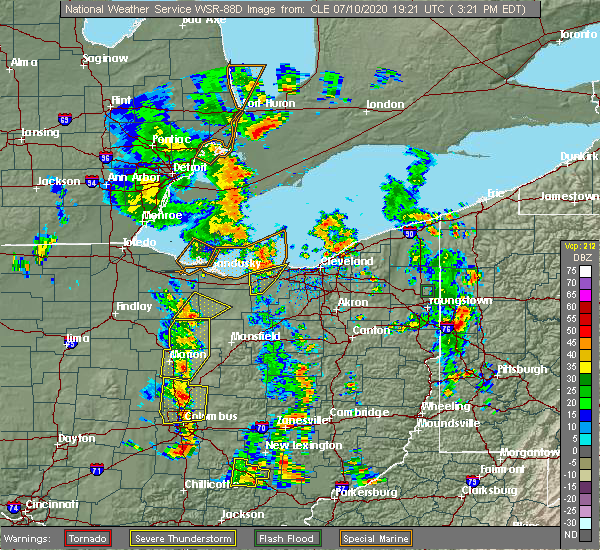 Radar Image for Severe Thunderstorms near Howard, OH at 7/10/2020 3:35 PM EDT