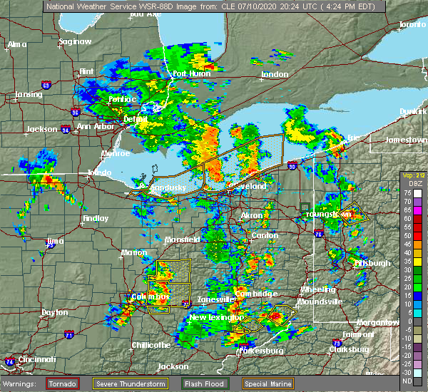 Radar Image for Severe Thunderstorms near Howard, OH at 7/10/2020 4:27 PM EDT