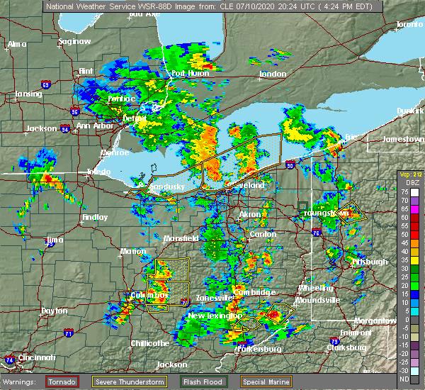 Radar Image for Severe Thunderstorms near Gann, OH at 7/10/2020 4:27 PM EDT