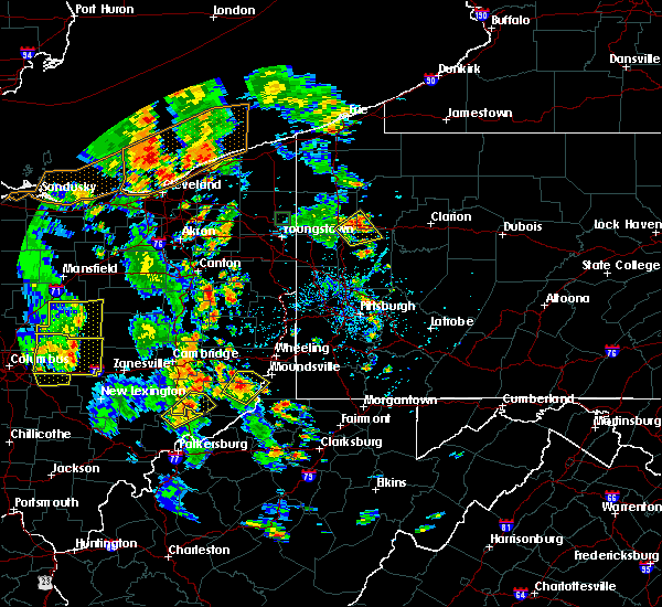 Radar Image for Severe Thunderstorms near Minerva, OH at 7/10/2020 4:29 PM EDT