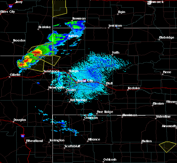 Radar Image for Severe Thunderstorms near Hulett, WY at 7/10/2020 2:29 PM MDT