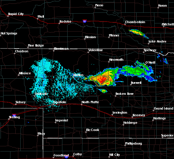 Radar Image for Severe Thunderstorms near Anselmo, NE at 7/10/2020 3:36 PM CDT