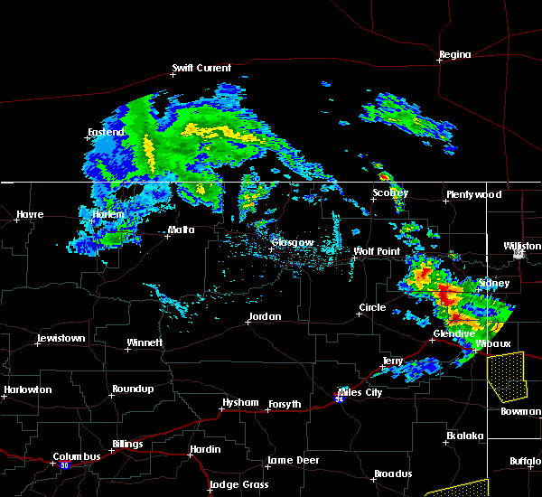 Radar Image for Severe Thunderstorms near Sidney, MT at 7/10/2020 2:48 PM MDT