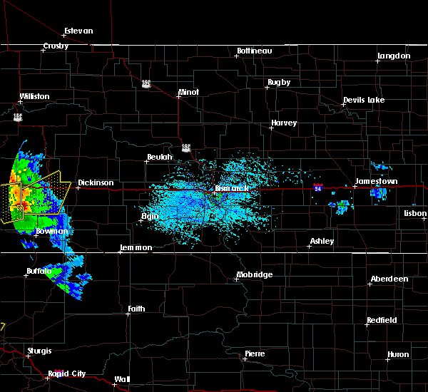 Radar Image for Severe Thunderstorms near South Heart, ND at 7/10/2020 2:51 PM MDT