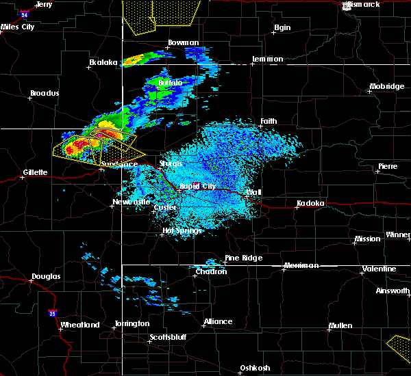 Radar Image for Severe Thunderstorms near Hulett, WY at 7/10/2020 2:55 PM MDT