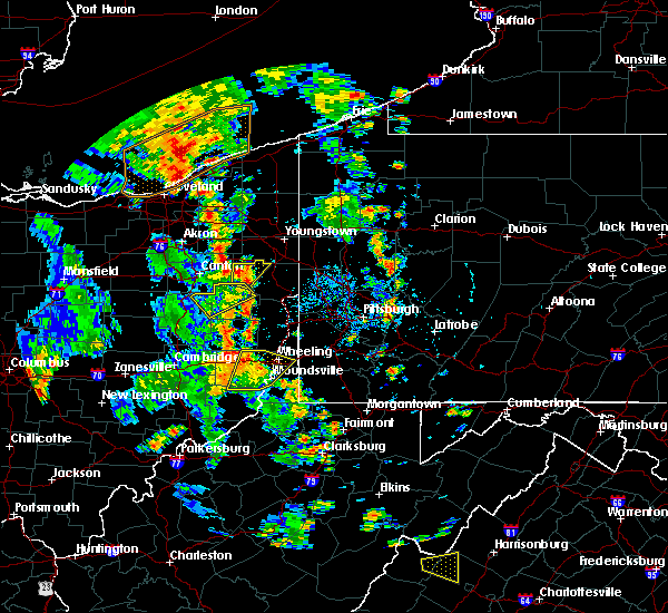 Radar Image for Severe Thunderstorms near Washingtonville, OH at 7/10/2020 4:58 PM EDT