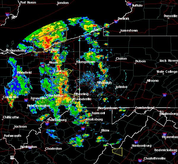 Radar Image for Severe Thunderstorms near Hanoverton, OH at 7/10/2020 4:58 PM EDT