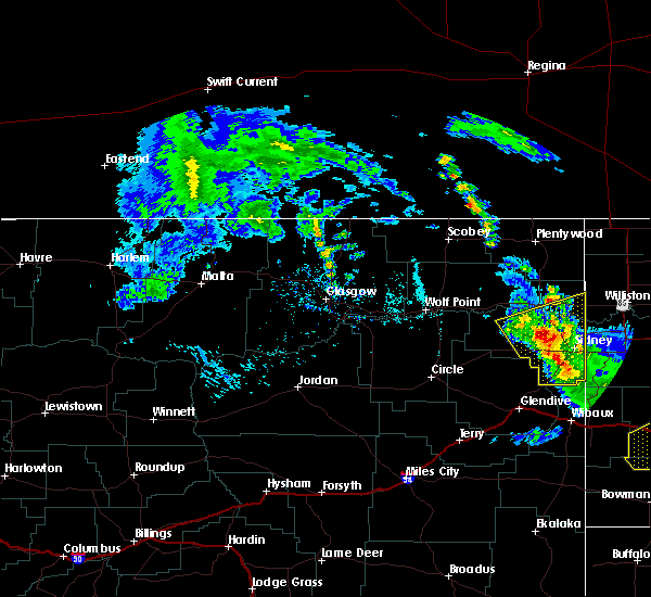 Radar Image for Severe Thunderstorms near Sidney, MT at 7/10/2020 3:06 PM MDT