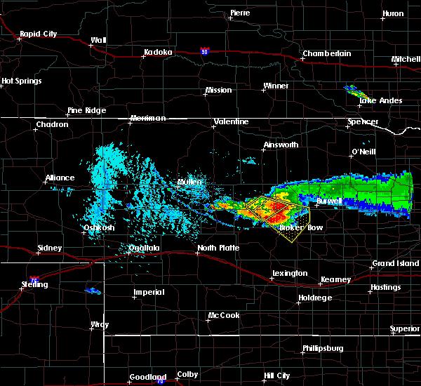 Radar Image for Severe Thunderstorms near Anselmo, NE at 7/10/2020 4:14 PM CDT