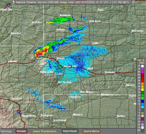 Radar Image for Severe Thunderstorms near Sturgis, SD at 7/10/2020 3:24 PM MDT