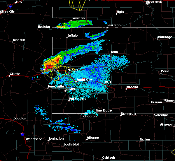 Radar Image for Severe Thunderstorms near Belle Fourche, SD at 7/10/2020 3:31 PM MDT