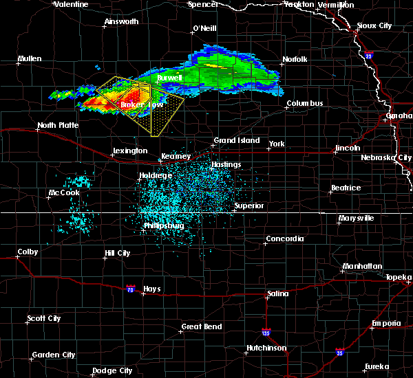 Radar Image for Severe Thunderstorms near Ord, NE at 7/10/2020 4:34 PM CDT