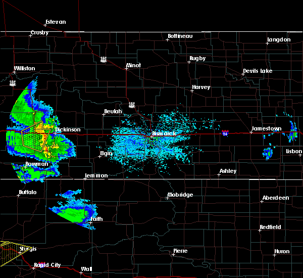 Radar Image for Severe Thunderstorms near Belfield, ND at 7/10/2020 3:36 PM MDT