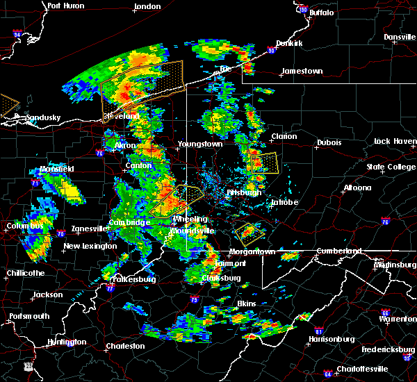 Radar Image for Severe Thunderstorms near New Cumberland, WV at 7/10/2020 5:37 PM EDT