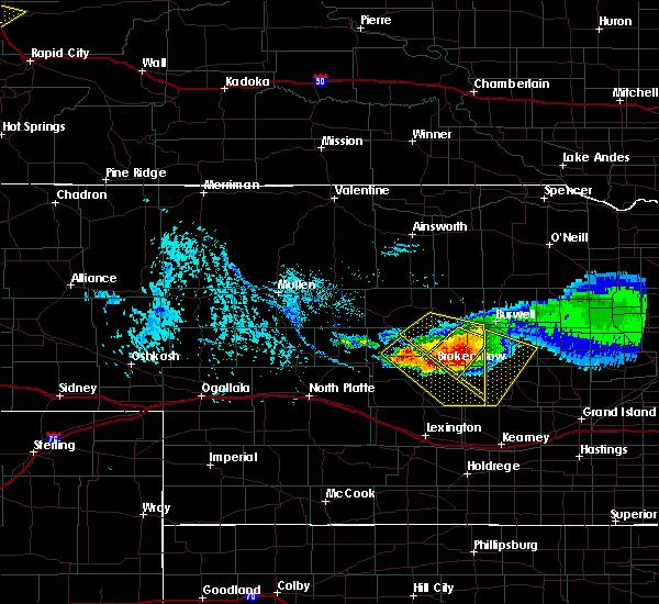 Radar Image for Severe Thunderstorms near Anselmo, NE at 7/10/2020 4:42 PM CDT