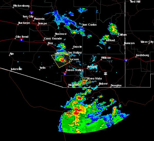 Radar Image for Severe Thunderstorms near Sierra Vista Southeast, AZ at 6/30/2015 5:54 PM MST