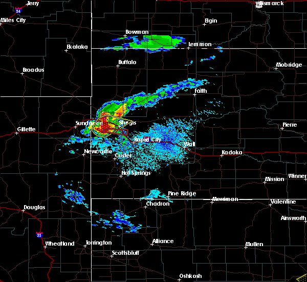 Radar Image for Severe Thunderstorms near Blackhawk, SD at 7/10/2020 4:02 PM MDT