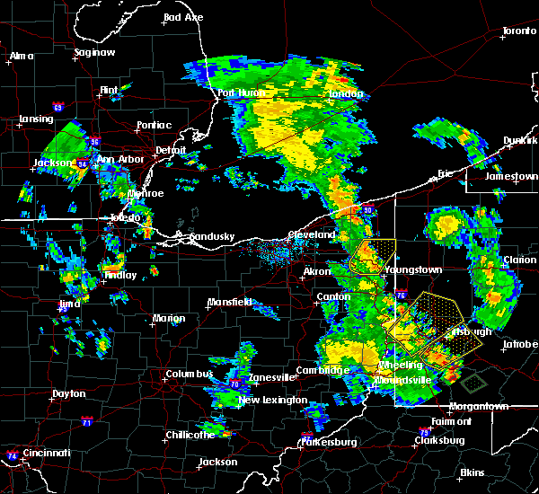 Radar Image for Severe Thunderstorms near Warren, OH at 7/10/2020 6:13 PM EDT