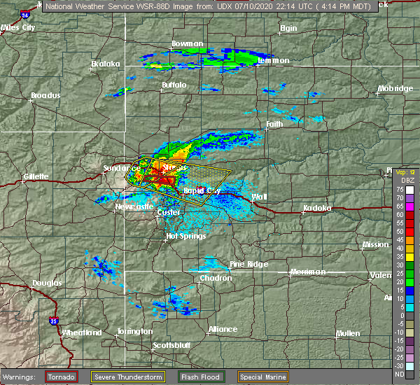 Radar Image for Severe Thunderstorms near Blackhawk, SD at 7/10/2020 4:20 PM MDT