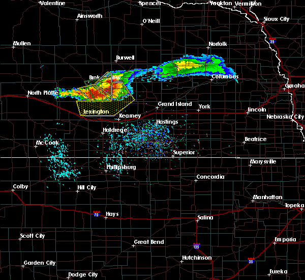Radar Image for Severe Thunderstorms near Miller, NE at 7/10/2020 5:23 PM CDT