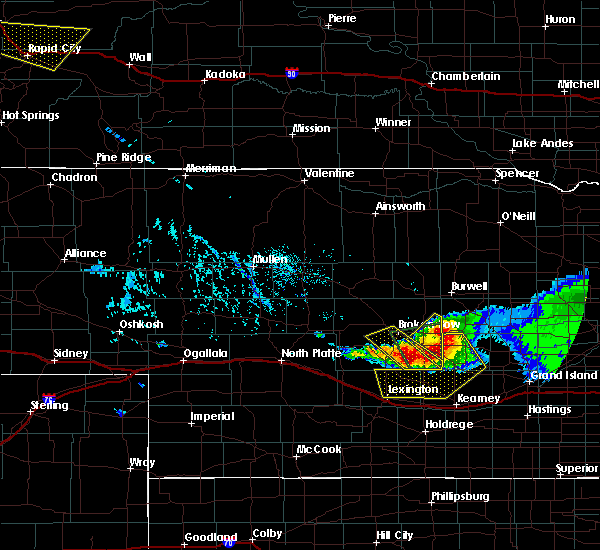 Radar Image for Severe Thunderstorms near Mason City, NE at 7/10/2020 5:29 PM CDT