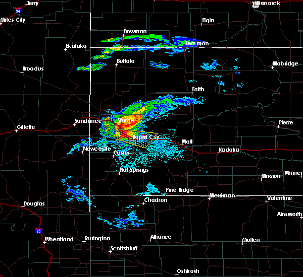 Radar Image for Severe Thunderstorms near Colonial Pine Hills, SD at 7/10/2020 4:29 PM MDT