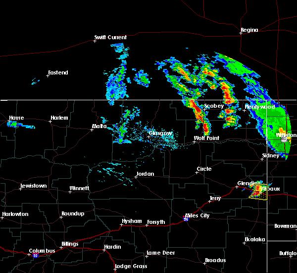 Radar Image for Severe Thunderstorms near Wibaux, MT at 7/10/2020 4:30 PM MDT