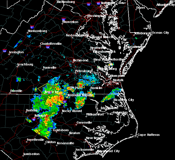 Radar Image for Severe Thunderstorms near Sussex, VA at 6/30/2015 8:54 PM EDT