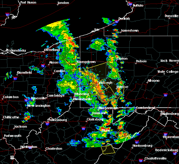 Radar Image for Severe Thunderstorms near Cheswick, PA at 7/10/2020 6:35 PM EDT