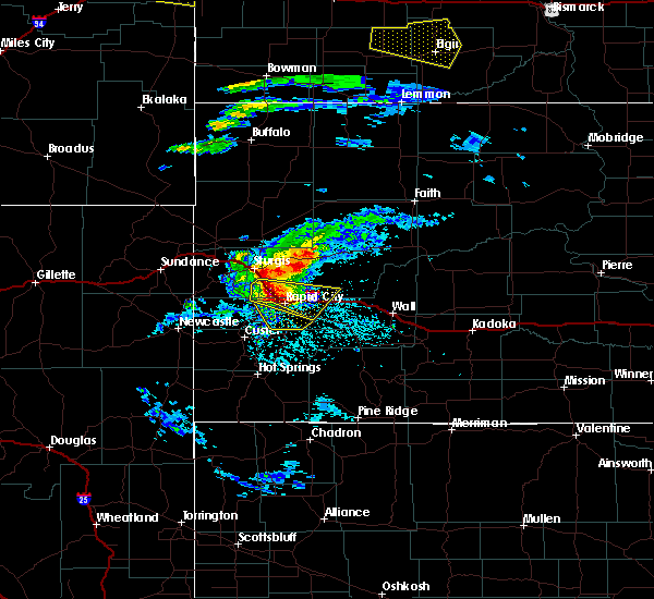 Radar Image for Severe Thunderstorms near Colonial Pine Hills, SD at 7/10/2020 4:42 PM MDT