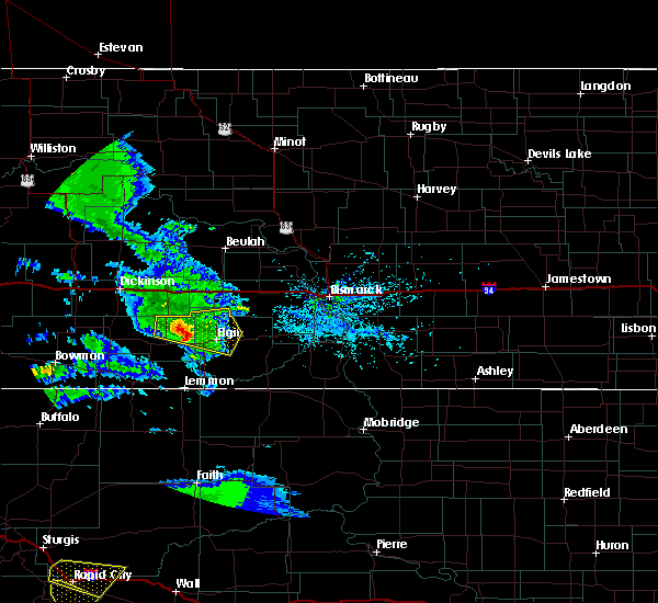 Radar Image for Severe Thunderstorms near New Leipzig, ND at 7/10/2020 4:46 PM MDT