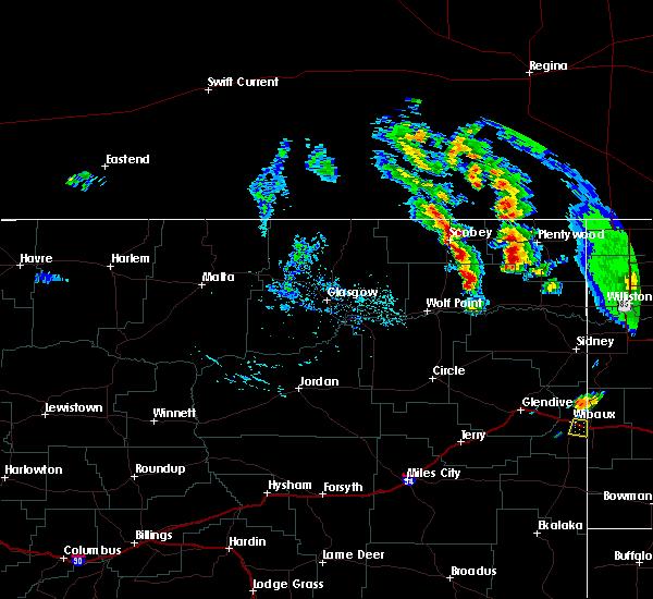 Radar Image for Severe Thunderstorms near Wibaux, MT at 7/10/2020 4:47 PM MDT