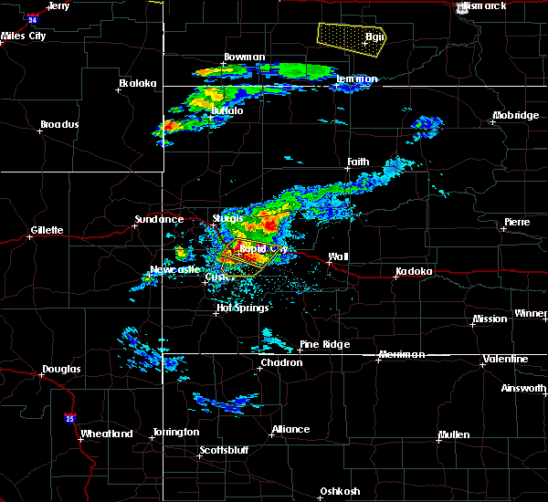 Radar Image for Severe Thunderstorms near Colonial Pine Hills, SD at 7/10/2020 4:51 PM MDT