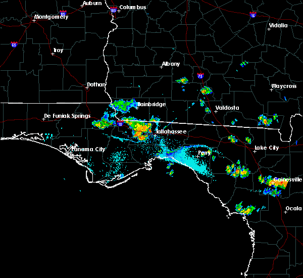 Radar Image for Severe Thunderstorms near Midway, FL at 7/10/2020 6:57 PM EDT