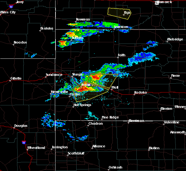 Radar Image for Severe Thunderstorms near Colonial Pine Hills, SD at 7/10/2020 5:05 PM MDT