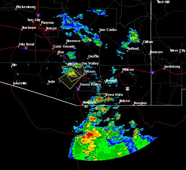 Radar Image for Severe Thunderstorms near Tucson, AZ at 6/30/2015 5:57 PM MST