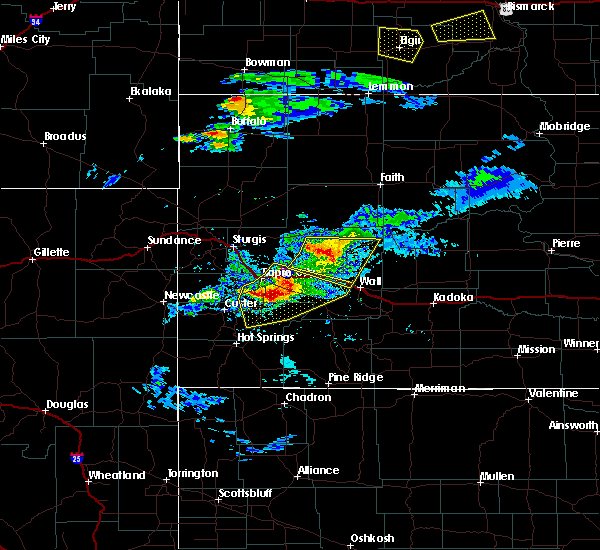 Radar Image for Severe Thunderstorms near Colonial Pine Hills, SD at 7/10/2020 5:14 PM MDT